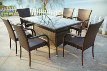 高品質籐家具籐の屋外の庭の家具パティオ セット