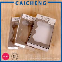 Изготовленный на заказ Коробка бумаги Упаковывая с окном PVC игрушки детские