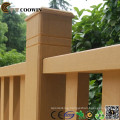 Wood plastic tec outdoor stair rail