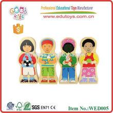 2015 buena figura de madera rompecabezas magnético de madera para niños