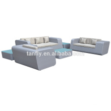 2015 outdoor wicker 6pcs sectional modular sofa