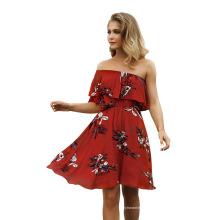 Женское пляжное платье, сексуальное праздничное платье на одно плечо