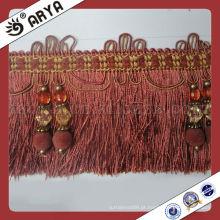 Estilo russo Cortina Tassel de borracha Fralda para sofá, Fralda de corte decorativa usada para acessórios de cortina para decoração de casa