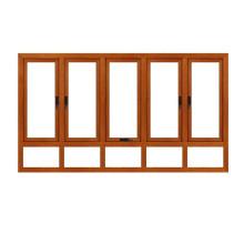 Feelingtop Casement Alumunium Wood House Windows (ventana de madera de aluminio FT)