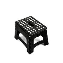 Wholesale Hot Sale Portable Solid Black Foldable Plastic Step Stool