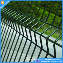 Completed metal wire mesh fence with post clamps fence post clips