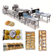 automatic burger buns filling forming packing machine