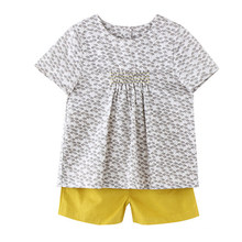Baumwollkinderkleid-Mädchen-Sommer-T-Shirt