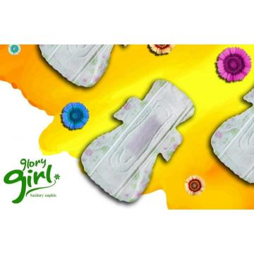 Winged herbal sanitary napkins for heavy flow