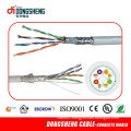 0.51mm 4pair Copper LAN Network Cable SFTP Cat5e