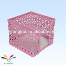 Розовый металлической проволоки сетки куб памятка клип holdler