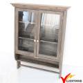 Antiguo Vintage Brown colgante de madera decorativa gabinete de pared