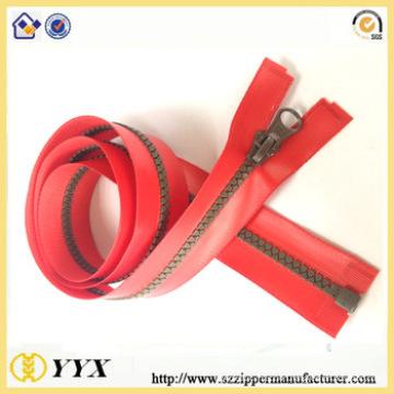 Waterproof fashionable plastic zipper for sale