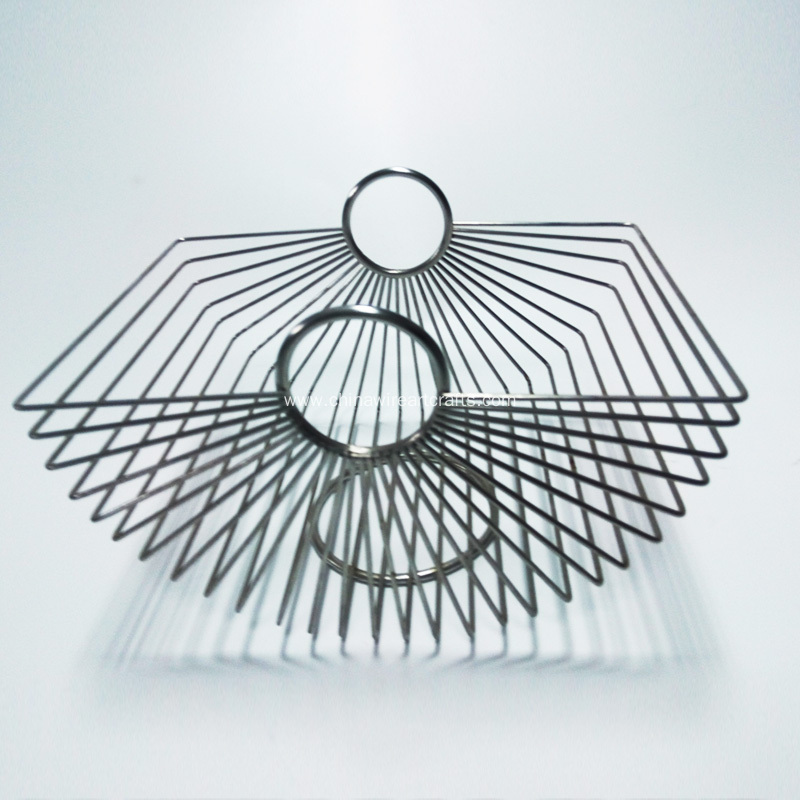Square Wire Fruit Basket For Home Decoration
