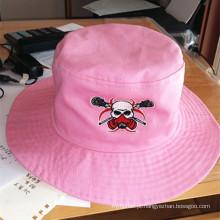 Chapéu do pescador da forma Chapéu bordado da cubeta do tampão da praia