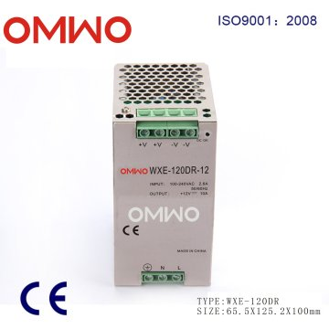 Aluminum Alloy Shell Wxe-120dr-12 DIN Rail Power Supply