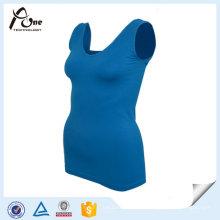 Camisola sem alças das mulheres atléticas do desgaste da camisola de alças da ioga