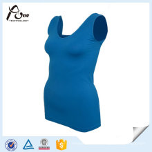 Yoga Tank Top Athletic Wear Femmes Plain Singlet