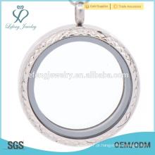 Limpar pingente medalhão, pingente para o namorado, pendente locket em branco