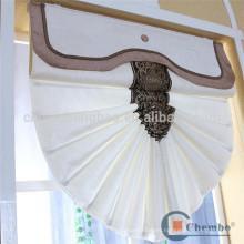 Moderno cortina de lino blanco romano puro blanco