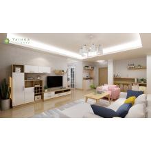 Elegante sala de estar moderna con sofá