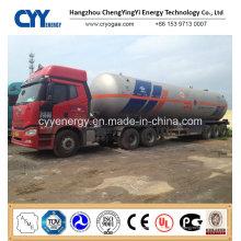 Chine 2015 LNG Liquide oxygène Nitrogen Tank Car Semi Semi-remorque