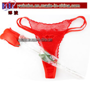 Wedding Party Favor Red Rose Flowers Underpants Promotional Promotion Gifts (V1006)
