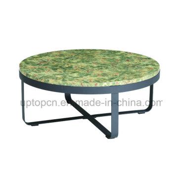 Европа Стиль круглый Мраморный столик в ресторане с креста базы (СП-GT435)