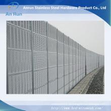 Barrera acústica perforada para edificios, fábricas, autopistas y pueblos