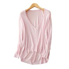 Kleidung fabrik große V-ausschnitt dünne strickjacke für frauen 2017 100% kaschmir strickcardigans