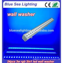 Chine a conduit lave laveuse 24pcs 3w rgb 3in1