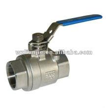 2000WOG 2PC inox gaz robinet à bille avec dispositif de verrouillage