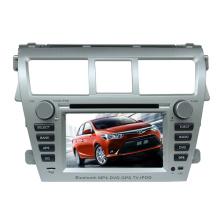Ajuste 2DIN coches reproductor de DVD para Toyota Vios con Radio Bluetooth TV estéreo sistema de navegación GPS