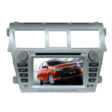 2DIN Car DVD Player Fit for Toyota Vios with Radio Bluetooth TV Stereo GPS Navigation System