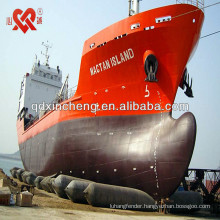 floating marine airbags used for ship launching or heavy lifting