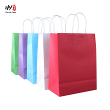Kraft paper gift shopping sales tote bags custom print bag