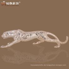 hochwertige Hausverzierung Fengshui Leopardenharz-Skulptur