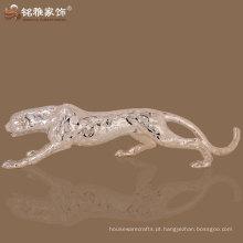 Escultura de resina de leopardo de fengshui de decoração de casa de alta qualidade