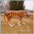 Life Size Garden Decoration Fiberglass Tiger Statue