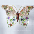 Colorful Hollow Texture Metal Butterfly Decoration for Garden and Home
