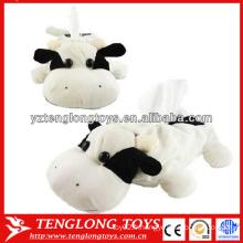 Boîte à tissus pour animaux en peluche mignonne en forme de vache