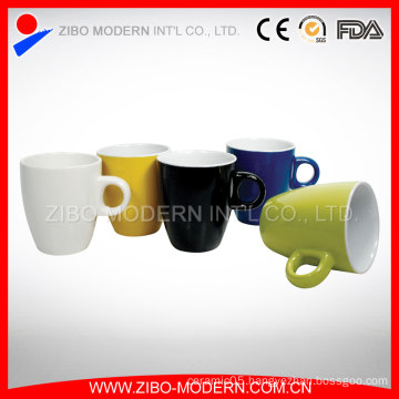 Wholesale 8oz Fine Ceramic Porcelain Mug 2-Tone Colors Little Mugs