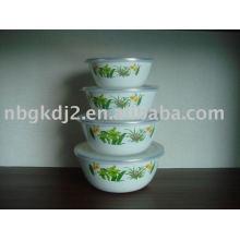 Porcelain Enamel Storage Bowl Set