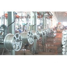 Conveyor Powder Spray Coating Line for Car Rims