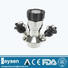 Válvula de amostragem asséptica sanitária de aço inoxidável com corrente