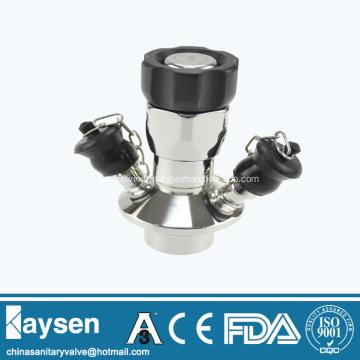 Vanne d'échantillonnage aseptique en acier inoxydable sanitaire avec chaîne