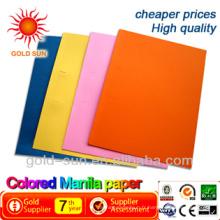 papier de couleur manille
