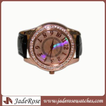 Simple Alloy Watch Leather Belt Watch