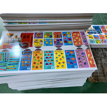 Collection educational cards playing card for baby CMYK printing automated factory