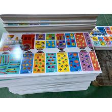 Coleção de cartas de baralho educacional para fábrica automatizada de impressão CMYK bebê